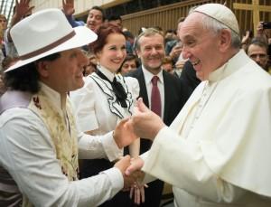 . Santino e Papa Francesco