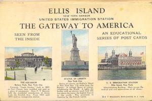 THe Immigration Station a Ellis Island, postcard
