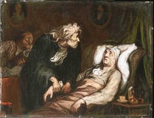 Honoré Daumier, Le malade imaginaire, 1860 ca.