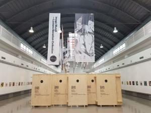 Area d'ingresso alla mostra, Spazio ZAC, Cantieri Culturali alla Zisa, Palermo, da Imago Mundi – Collezione Luciano Benetton (Foto Di Maggio)