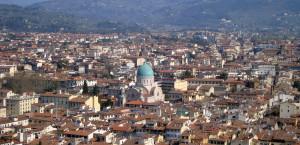 Centro storico di Firenze con il Tempio Maggiore Israelitico (ph. Niglio)