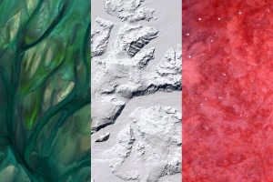 Italy earth flag, satellite photography Quatar Antarctica, Namibia, 2016