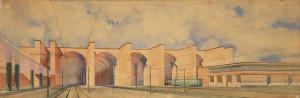 Progetto per la stazione ferroviaria di Trieste.