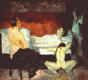 La grande scena dell'agonia, Max Beckmann, 1906.