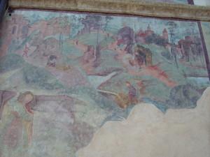 Affresco dell'industria estrattiva tirolese, sec- XV secolo, nord Tirolo (ph. Armano)
