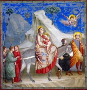 Fuga in Egitto, Giotto, Cappella degli Scrovegni, Padova