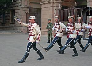 Cambio della guardia al palazzo presidenziale (ph. Giaramidaro)