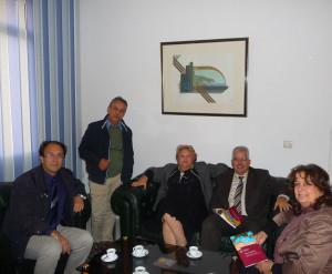 12 Novembre 2013, incontro con Habib Kazdaghli in Presidenza (da sinistra S. Speziale, A. Somai, S. Finzi, H. Kazdaghli, L.Faranda).