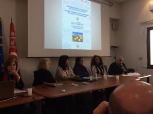 Silvia Finzi (seconda da sinistra) e Ahmed Somai (ultimo a destra) al Convegno internazionale di Studi mediterranei (20 febbraio 2017, ph L. Faranda).