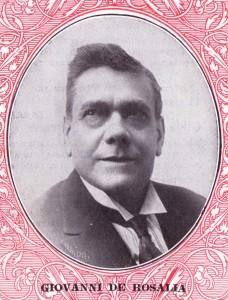 Giovanni De Rosalia in un volantino pubblicitario della Columbia. New York, 1927 (Collezione G. Fugazzotto).