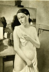 Fanciulla nuda, 1934, di F. Trombadori, olio su tela, Civica Galleria d'Arte Moderna Empedocle Restivo, Palermo.
