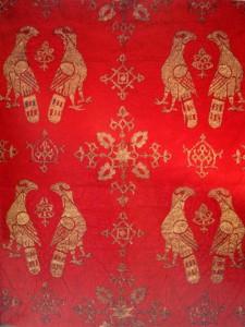 Tessuto di seta siculo-arabo, part.