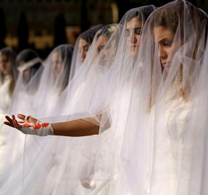 Women in Lebanon protesting againt marry your rapist law.