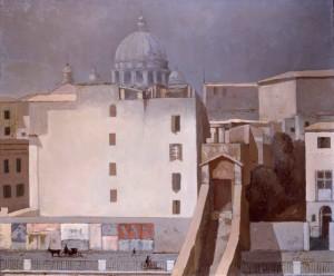 Corridoio dei Papi,1959, di F. Trombadori, olio su tela, Museo Scuola Romana Villa Torlonia