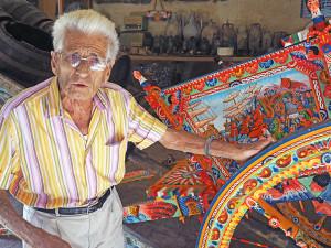 Filippo Ancona, collezionista di carretti (ph. Giaramidaro)