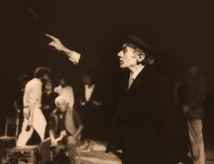 Alpo M., un attore protagonista degli spettacoli dei primi anni (Archivio Teatro Povero di Monticchiello).