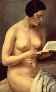 Fanciulla nuda che legge, 1929, di F. Trombadori, coll. privata.