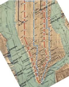 1880, le linee della Elevated a Manhattan, Downtown e Midtown