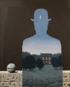 Il donatore felice, di R. Magritte, 1966.
