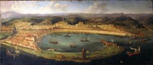 Porto di Messina con Palazzata, di Simone Gulli, 1623.