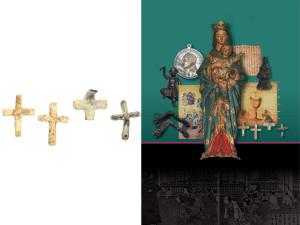 Sincretismi culturali. Madonna con bambino della fine sec. XVI ed altri oggetti di uso religioso, in Giappone durante le missioni gesuitiche ( ph. O. Niglio 2015).