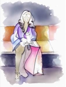 La sezione trasversale della popolazione è costituita dalla middle class, professionisti in abiti da lavoro, uomini e donne ben vestiti, in giro per shopping