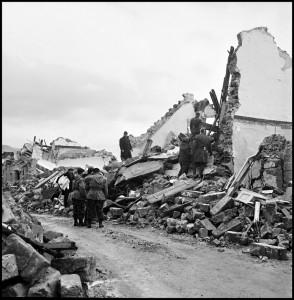 Il giorno dopo il sisma a Gibellina
