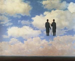 La riconoscenza infinita, di R. Magritte, 1963