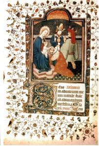 Miniatore fiammingo, prima metà XV sec., Laudes Sanctorum Officium, Biblioteca Centrale, Palermo