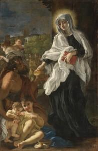 Santa Francesca Romana, di G. B. Gaulli, 1660 ca.