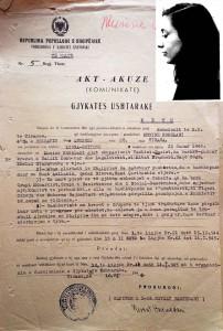 documento della polizia giudiziaria albanese con foto segnaletica di Kokalari.
