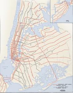 1920, la mappa delle linee della metropolitana.