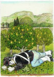 Il soldato morto ne giardino dei colli, omaggio a Tomasi, di Bruno Caruso, 2007