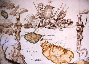 copertina Isola di Malta, carta geografica, part., seconda metà sec. XVIII.