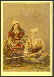 Coppia di montanari di Scutari (ph. P. Marubi).