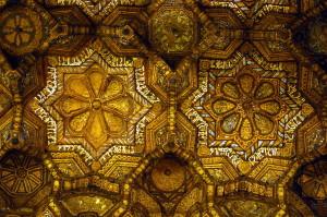 Cappella-Palatina-Palermo-soffitto-ligneo-particolare-di-muquamas