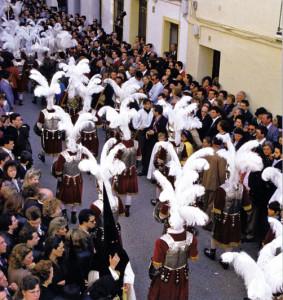 Centuria-romana-in-fase-di-rientro-alla-basilica-@-J.-A.-Zamora-Pasiones.-Semana-Santa-en-Sevilla