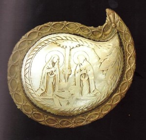 Natività greco-balcanica, sec. XVIII, fibbia di cintura.