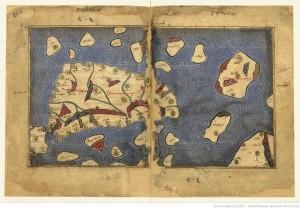 La Sicilia nella mappa di Al-Idrisi per il Libro di Ruggero, 1154.