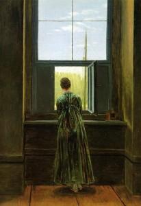 Donna-alla-finestra-D.-F.-Caspar-1822.