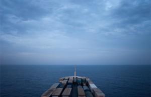 Nave container, rotta Tunisia-Sardegna (ph. N. Fioravanti, 2009)