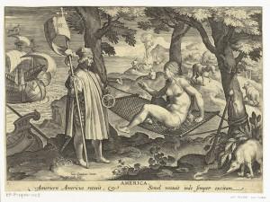 . Amerigo Vespucci scopre America, Theodoor Galle, secondo Jan van der Straet, ca. 1589 - ca. 1593. Rijksmuseum Amsterdam