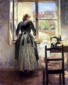 Donna-alla-finestra-Fritz-von-Uhde-1848.
