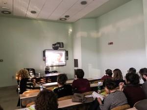 """La proiezione del film documentario """"Houdoud al Bahr I confini del mare"""" durante il workshop a Catania."""