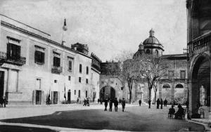 Piazza Municipio, sede del Partito Fascista, 1928