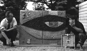 Costantino-Nivola-con-larchitetto-Enrico-Peressutti-East-Hampton-1952-53.