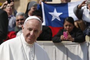 Il papa nella sua visita in Cile