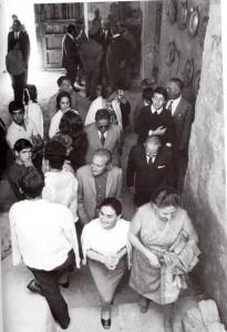 Casa Museo, cerimonia di inaugurazione, 1971(ph. Privitera).