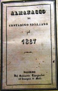 Almanacco del contadino siciliano, Palermo 1837 (coll. L. Lombardo)