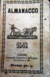 Almanacco del 1848, Palermo, Stamperia Ruffino, 1847 (coll. L. Lombardo